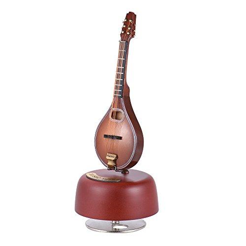 ammoon Clásico Acabar Caja de Música de la Mandolina Base Musical Rotativa Instrumento en Miniatura Replica Artware con Estuche para el Cumpleaños / Regalo del Día de Madre/ el Regalo del Día de Padre