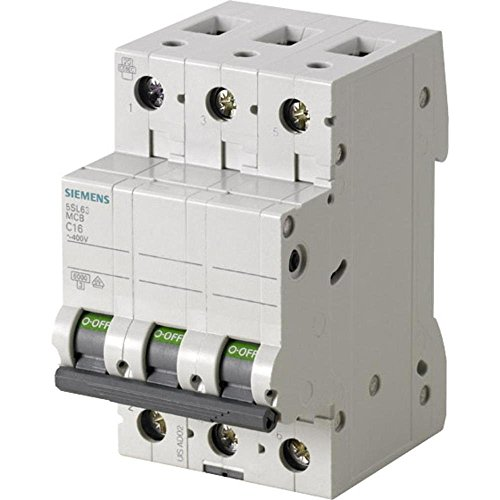 Siemens 5sl6316–7Miniatur Leitungsschutzschalter 6KA 3pol c-16a