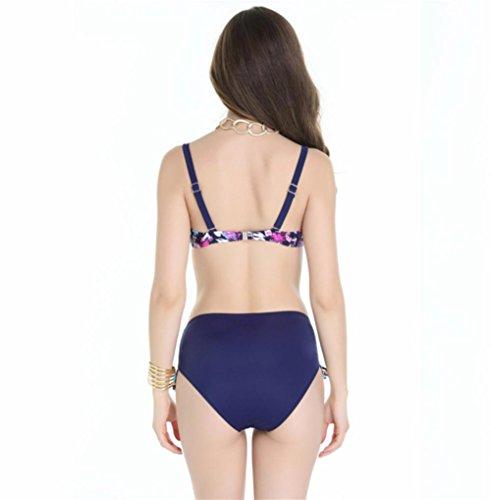 pengweiGroße Größe Farbe Bikini-Badeanzug weibliche Stahlstütze sammeln 1
