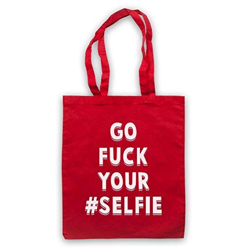 Go Fuck Your Selfie Funny Slogan Umhangetaschen Rot