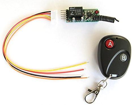 1 Canal 12V Mini Télécommande AC DC commutateur sans fil + Émetteur