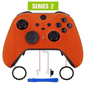 eXtremeRate Case für Xbox One Elite Series 2 Controller, Gehäuse Hülle Ersatzteile Zubehör mit Thumbstick Akzentringe für Xbox One Elite Series 2 Modell 1797