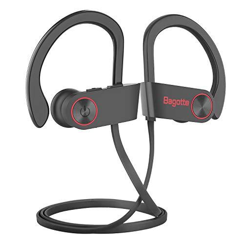 Bluetooth Kopfhörer, Bagotte in Ear Kopfhörer Bluetooth Headset Sport-Kopfhörer IPX7 Wasserdichte 9 Stunden Spielzeit, CVC 6.0 Noise Cancelling In-Ear Ohrhörer mit Mikrofon für iPhone Android