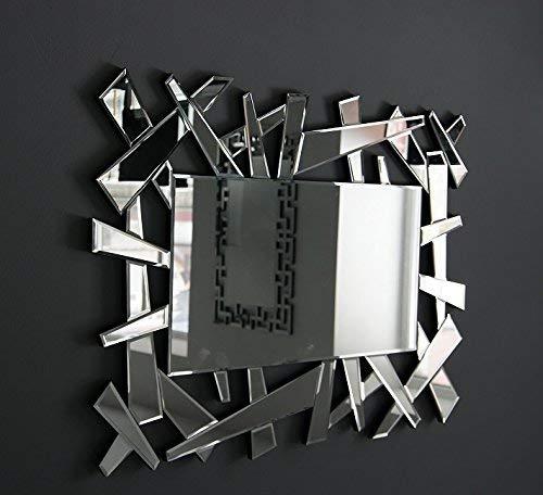 MirrorOutlet Espejo Veneciano Grande Moderno Hexagonal