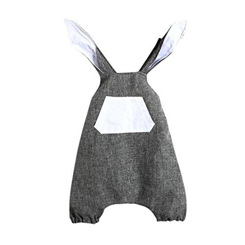 ex Baby Mädchen Cute Ostern Kleidung Kaninchen Ohr Rückenfrei Strampler Outfits Kleidung, Kinder, grau, 6-12 Monate (12 18 Monats-halloween-kostüme)
