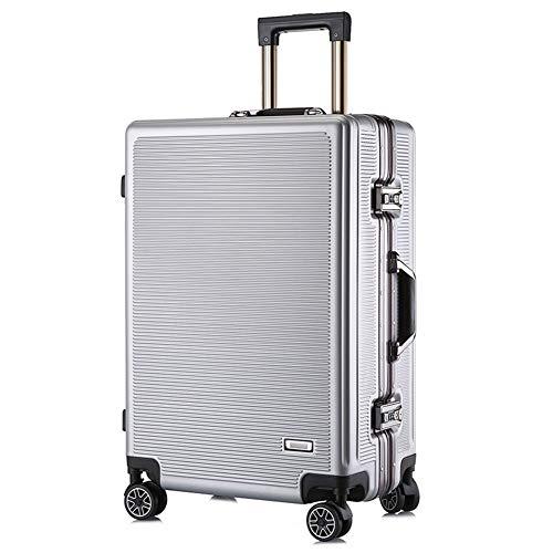 XDD 24-Zoll-Gepäck, Leichter PC-Hartschalenreisetrolley mit 8 Rädern, wasserdichte Unisex-Gepäcktasche TSA Password Box-Handtasche,strapazierfähiges Hartschalengepäck für die Business Academy,B