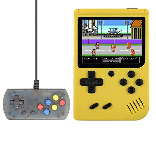 Überraschungsgeschenk für Ihre Kinder oder Freunde!!! Retro Mini Spielekonsole, Handheld Game Console Arcade mit 168 Klassische Video Games Maschinen für Kids Junge Kleines Geburtstag (Gelb)