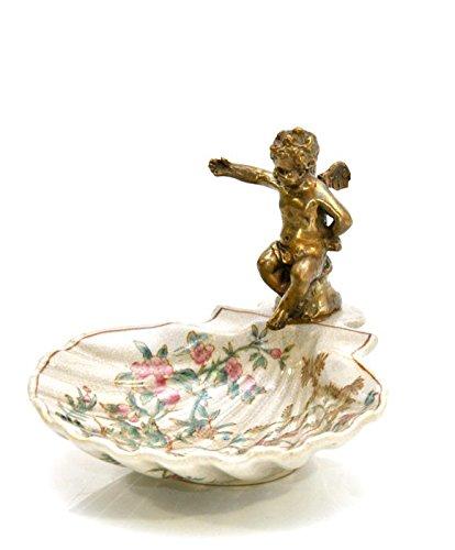 Wunderschöne Seifenschale ~ Asia geblümt ~ Porzellan antik Design Bronze Engel (Bronze Porzellan)
