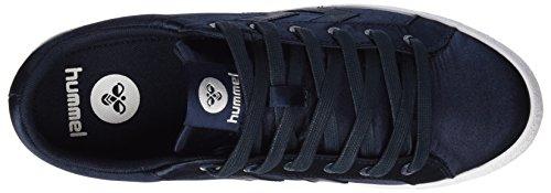 Hummel Deuce Court Satin, Sneakers Basses Femme Bleu (Total Eclipse)