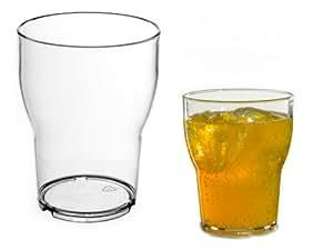 Virtually Glass Lot de 6 verres empilables en plastique polycarbonate incassable Roltex Forme tulipe 250 ml