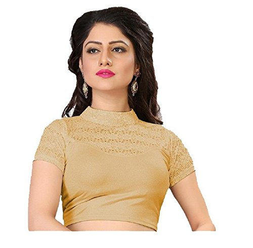 PRE SMART GOLDEN READY MADE STITCHED STRETCHABLE BLOUSE