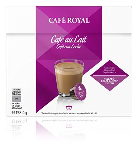 Café Royal Café Au Lait Neue Generation, 48 kompatible Kapseln für Nescafé Dolce Gusto, 3er Pack...