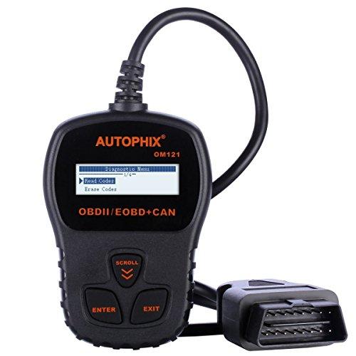 Autophix OM121 OBD2 Escáner Lector de Códigos Para Leer Y Borrado de Coche Código del Motor,Herramienta de Análisis de Diagnóstico