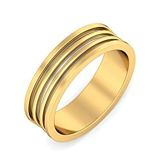 BlueStone 22k (916) Yellow Gold Undaunted Ruler Ring