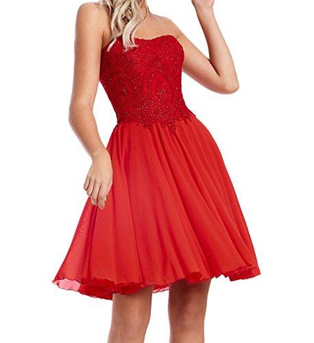 La_Marie Braut Rot Steine Abendkleider Cocktailkleider Abschlussballkleider Summer Tanzenkleider Mini Royal Blau