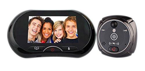 LKM Security® Türspion für Anschlüsse Kamera mit Klingel Bildschirm Touch Screen 3,7Zoll mit Nachtsicht Infrarot Bewegungsmelder und Video Nachricht mit Slot Micro SD