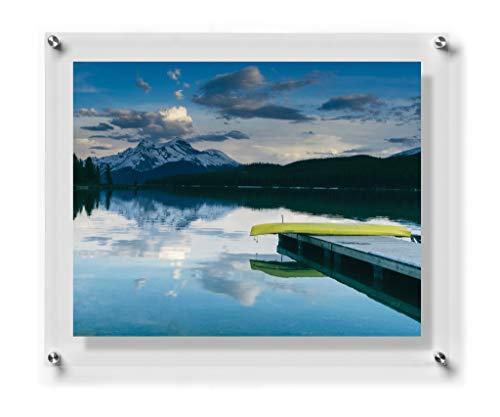 Wexel Art 12x 10Double Panel Floating Rahmen für 5x 7Art & Fotos, Farblos, 20x24