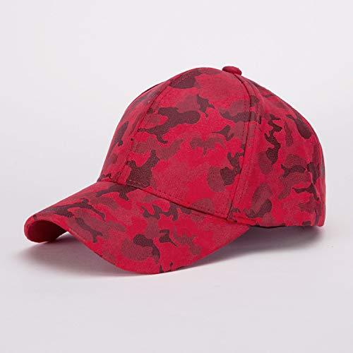 zhuzhuwen Baseball Cap Outdoor Sport Herren Camouflage Lederjacke Militär Fan Cap 5 einstellbar - Der Französische Outdoor-lampe