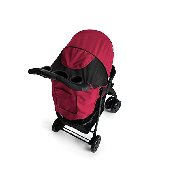 Hauck Shopper Neo II, Folding Pushchair from Birth to 25 kg, Lightweight with Lying Position, Two Cupholder Trays, One Hand Fold, Caviar/Tango Hauck Fold in seconds with one hand Comfortable seat with lying position and adjustable footrest Includes 2 practical bottle trays 7