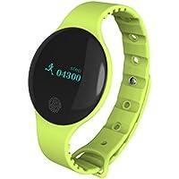 Bluetooth Smart Watch Sannysis pulsera deportivo pedometer tracker para Android iOS (verde)