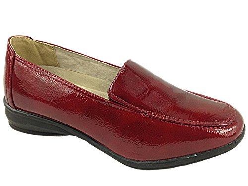 Femmes Dr Keller Lainey Brun/ Elaine Beige Crocodile Coupe Large Semelle Plate Confort Décontracté Taille De Chaussure 4-9 Berry EEE