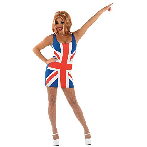 Fun Shack FN3893M Kostüm, Women, Union Jack Dress, m