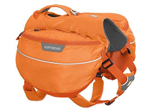 Ruffwear Wander-Rucksack für Hunde, Kleine Hunderassen, Größenverstellbar, Größe: S, Orange (Orange Poppy), Approach Pack, 50102-801S
