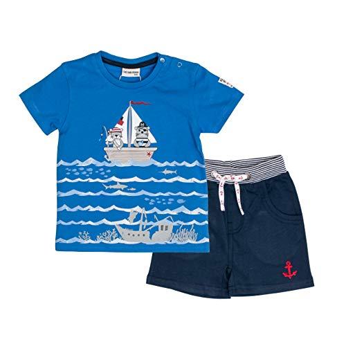 SALT AND PEPPER Baby-Jungen Bekleidungsset Set Piraten Uni Print Blau (Strong Classic Blue 465-486), ()