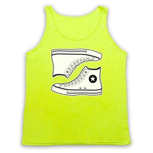 Allstars Basketball Shoes Tank-Top Weste Neon Gelb