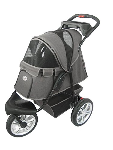 InnoPet® ips-070/VI Kinderwagen Vintage für Hunde Used Denim Grey Look