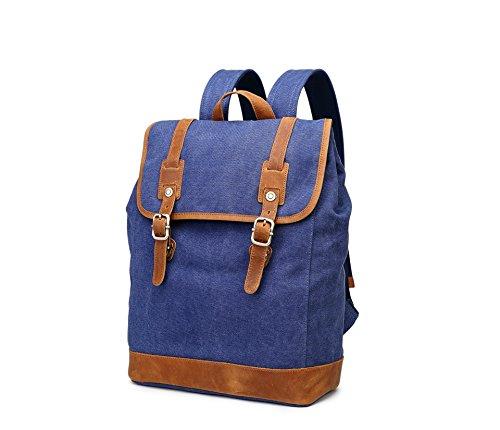 Mefly Retro Style Rucksack Rucksack Laptop Tasche Student Blue