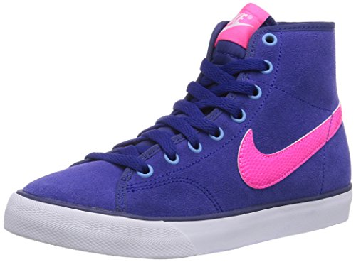 Nike Primo Court Mid (Gs) 641877 Mädchen Low-Top Sneaker Mehrfarbig (Dp Ryl Bl/Hypr Pnk-White-Gm Ry)