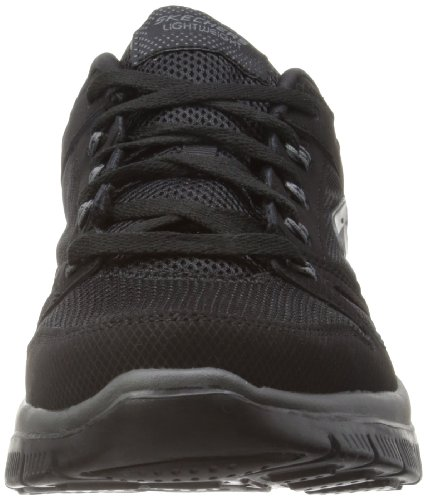 Skechers Flex Advantage, Sneakers basses homme noir (BBK)