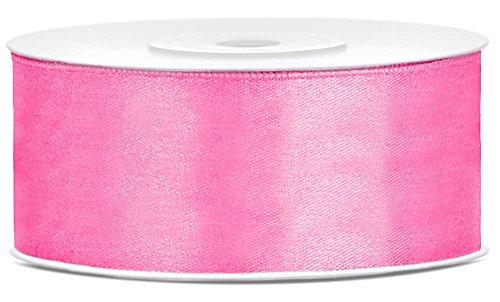 25m x 25mm Satinband Geschenkband Schleifenband Dekoband Satin Band (Rosa (081)) -