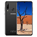 DOOGEE N20 (2019) Dual SIM 4G móviles, 6.3' FHD + Pantalla Smartphones Libres Android 9.0 Core 4GB RAM 64GB ROM, Cámara 16 MP + 16 MP + 8 MP, 4350 mAh - Negro