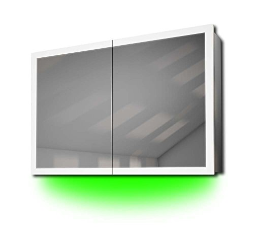 Diamond X Collection Audioschrank mit Randbeleuchtung, Bluetooth, Spiegelheizung, Sensor k466gaud -