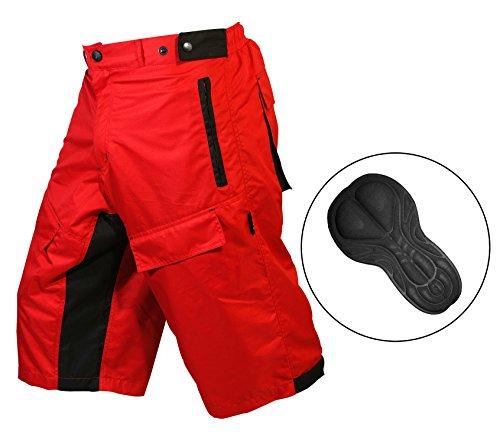 Select ProComfort MTB Mountainbike Shorts Baggy Lycra Coolmax-Innenfutter rot rot Medium:32