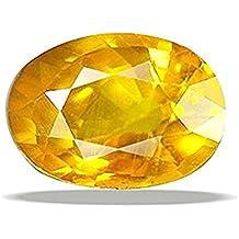 Vaibhav Gems 8.25 Ratti Certified Natural Yellow Sapphire Gemstone/ Pukhraj Stone