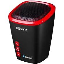 Duronic SPB2 /RD Altavoz + Bass Inalámbrico Portátil - Manos Libres + Microfono – Bluetooth + Puerto AUX