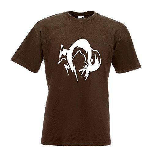 KIWISTAR - Fox Hound T-Shirt in 15 verschiedenen Farben - Herren Funshirt bedruckt Design Sprüche Spruch Motive Oberteil Baumwolle Print Größe S M L XL XXL Chocolate