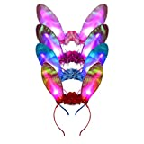 Parti Cosplay Costume Bandeau Multi-Couleur LED Dentelle Chat Animal Oreille Clignotant Bandeaux Coiffure Fournitures De Fête Bande De Cheveux 5 Pcs/Pack(Style 5)