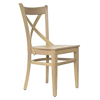 abritus Set 2 Stühle Stuhl Esszimmerstuhl Holzstuhl Buche Massivholz Natur-Honig »T010«