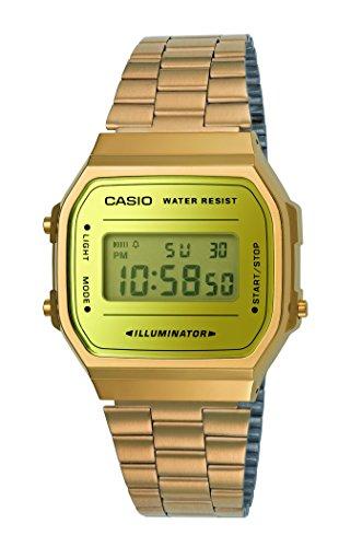 Casio Mixte Digital Quartz Montre avec Bracelet en Acier Inoxydable A168WEGM-9EF