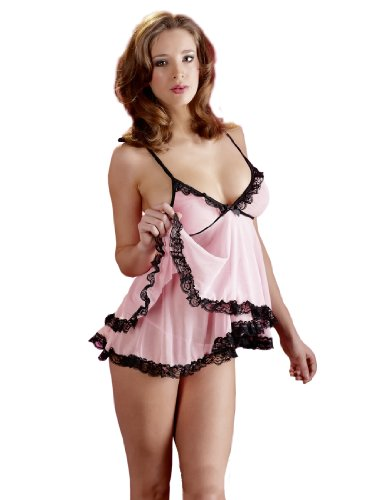 Cottelli Collection Babydoll mit String Rosa