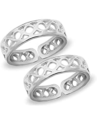 596c5fb7e1417f MJ 925 Comfortable Band Design Toe Rings in Pure 92.5 Sterling Silver for  Women