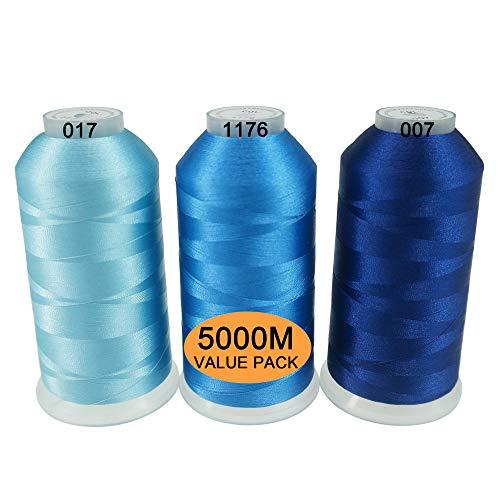 New brothread Conjunto 3 Diferentes Azul Colores Poliéster