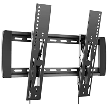 RICOO Support TV mural inclinable R01-12 Meuble TV mural fixation murale TV support ecran plat TV LED support tele mural VESA 520x400 max. universel fixation TV pas cher compatible toutes marques