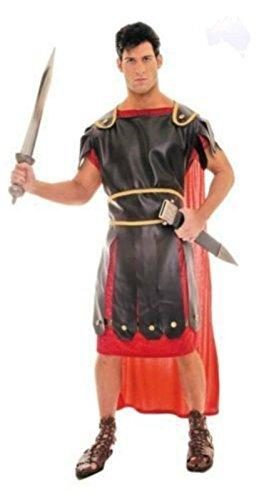 Griechischen Kostüm Kaiser - Gladiator Herren-Kostüm Kämpfer Kaiser Griechische-Kriegs-Verkleidung Gr. 52/54 LARP Persisch Karneval Fasching Halloween Erwachsen