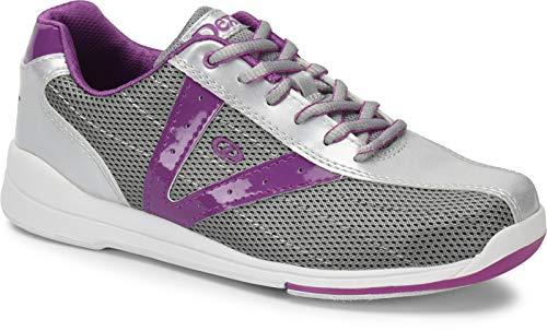 Dexter Vicky - Silber/Grau/Lila, Bowling-Schuhe Damen, für Rechts- und Linkshänder in den Schuhgrößen 36-41 und Mein-Bowlingshop.de Schuhtasche Größe 39,5