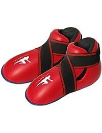 Botas Rojas Almohadilladas de Kickboxing y Semi / Full Contact - Para Niños y Jóvenes - Rojo, Extra Pequeña / 4-6 años